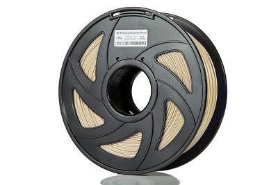 3D Printer PLA Real wood  Fiber Infused Spool Filled Filament 1.75mm 1kg 2.2lbs