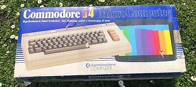 Old Vintage Commodore 64 Micro Computer In Box