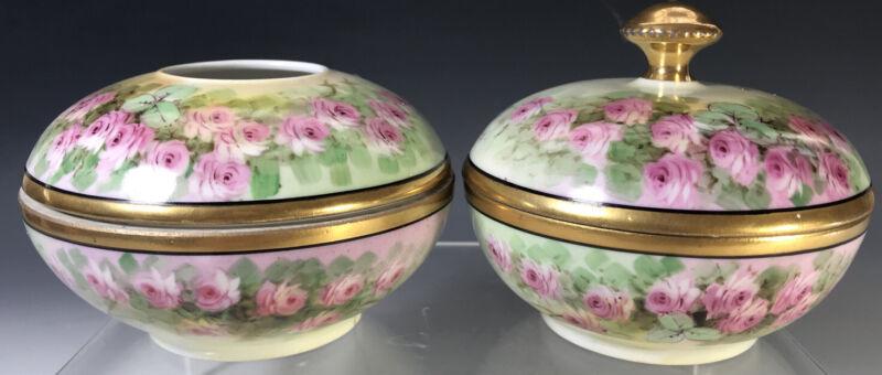 Limoges Rose Dresser Vanity set