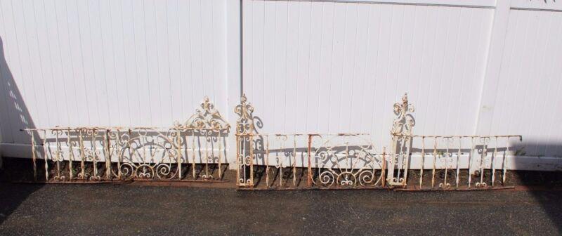 Antique Vintage Ornate Wrought Iron Fence - American circa 1900s 100% original