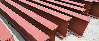 "Construction Steel I Beams 12"" inch (Web) x 6-1/2"" Inch (Flange) 20 feet long"