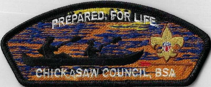 Chickasaw Council, BSA Prepared For Life BLK Bdr. [MX14527]