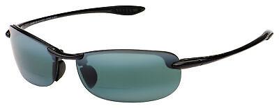 Maui Jim Makaha Reader Sunglasses G805-0215 Gloss Black   Neutral Grey (Maui Jim Makaha Readers)