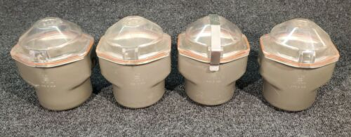 4x IEC 378-S CENTRIFUGE ROTOR SWING BUCKETS for 216 ROTOR w/ COVERS P/N 48227