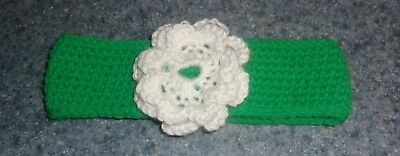 Brand New Crocheted Green Flower Dog Collar For East Coast Corgi Rescue Charity