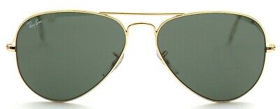 Ray-Ban Damen Herren Sonnenbrille RB3025 W3341 58mm Aviator Large Metal G E7 H