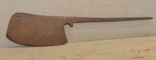 Antique medieval design meat cleaver hog splitter butcher tool collectible early