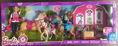 ✨ BARBIE Pink Passport Horses and Ranch Gift Set Sisters RARE DISCONTINUED New