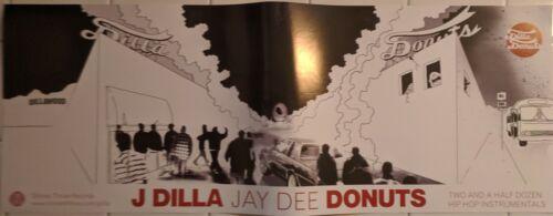 MEGA RARE ORIGINAL J DILLA JAY DEE STONES THROW DONUTS PROMO POSTER AND STICKER