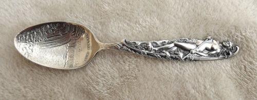 """Maid of the Mist"" 5 5/8 "" Sterling souvenir spoon Niagara Falls Nice"