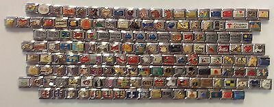 50 Assorted 9mm Stainless Steel Italian Charms, All Different Nice Wholesale Lot