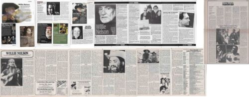 WILLIE NELSON : CUTTINGS COLLECTION - interview