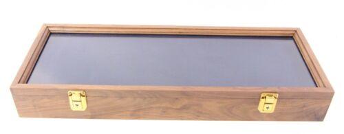 "Handmade Amish Walnut Knife Display Case- 24"" x 9"" x 3"""
