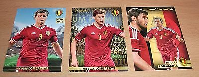 PANINI CARREFOUR LOT 12 40 119/180 BELGIAN RED DEVILS TOUS ENSEMBLE - LOMBAERTS