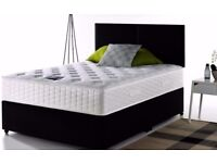 EXPRESS FAST DELIVERY - DOUBLE DIVAN BED BASE INCLUDING MATTRESS (Headboard Optional)