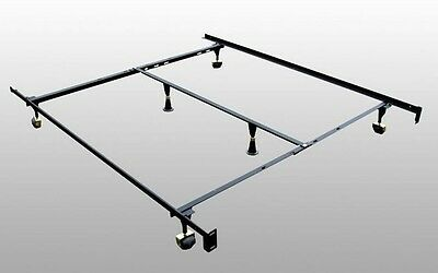 New Adjustable Metal Queen Full Twin Size Bed Frame With Mid