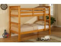 ORDER NOW GET IT SAME DAY SPECIAL STYLISH WOODEN PINE BUNK BED BRAND NEW SAME DAY EXPRESS DELIVERY