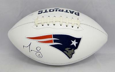 Martellus Bennett Autographed New England Patriots Logo Football- JSA W Auth ()