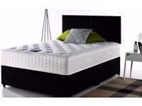 BEST BUY AT LOWEST BUDGET GUARANTEED-- DOUBLE DIVAN BED BASE WITH ROYAL ORTHOPEDIC MATTRESS