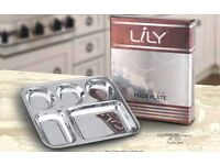 Lily Stainless steel 5compartment plate