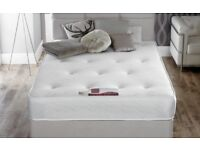 *BRAND NEW FACTORY WRAPPED*SMALL DOUBLE/4 feet wide/Free Local Delivery Bed Base & THICK ORTHO MATTR