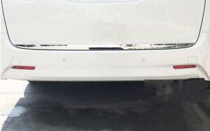 Stainless Rear Trunk Lid Moulding Cover For Toyota Alphard Vellfire 16-2018 ln