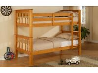 BUY - Brand New Twin/Twin STRONG WOODEN. Single Top Single Bottom Extra Solid Wooden Bunk & Mattress