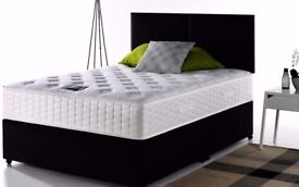 🌷💚🌷UK MANUFACTURED🌷💚🌷50% SALE 🌷💚🌷 BRAND NEW DOUBLE DIVAN BED WITH DEEP QUILT MATTRESS