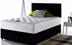 Free Delivery == Luxurious Damask Fabric BED !! Single/Double/King Size Divan Bed With Mattress