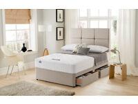 New & sealed Luxury Silentnight Essentials pocket sprung matress & 4 drawer divan base. Size Double