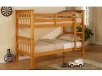 ORDER== NOW SPECIAL STYLISH WOODEN PINE BUNK BED BRAND NEW SAME DAY EXPRESS DELIVERY