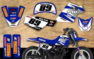 YAMAHA PW50 MOTOCROSS MX GRAPHICS DECAL KIT PEEWEE 50 GP REPLICA