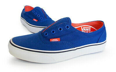 e5bfd0463e VANS off the wall Classic ERA LACELESS junior 6.0 blue orange SB school  slip-on