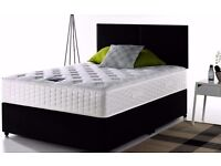 SPECIAL OFFER FOR LIMITED TIME: Double or Small Double Divan Bed Base With Super Orthopedic Mattress