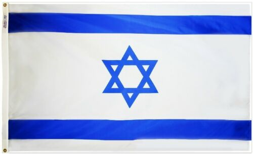 Israel Country Flag Nation of Israel Flag 4x6 ft Print NYLON Made in USA