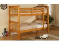 SUPER STYLISH WOODEN BUNK BED BRAND NEW SAME DAY EXPRESS DELIVERY ALL OVER LONDON AND KENT