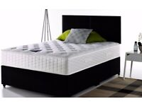🔴💜🔴STOCK CLEARANCE🔴💜🔴DIVAN SINGLE-DOUBLE-SMALL DOUBLE & KING SIZE BED BASE w MATTRESSES