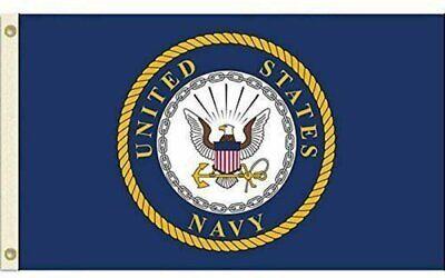 United States Navy Flag USN Emblem Banner US Military Pennant New 3×5 Décor