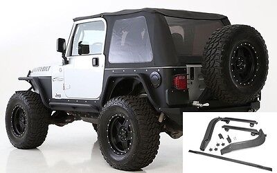 1997-2006 Jeep Wrangler Frameless Bowless Soft Top with Hardware Install Kit Install Jeep Soft Top