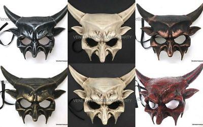 Masquerade ball Halloween costume Evil Spirit Devil Mask Sharp Horns Haunted art](Spirit Halloween Masquerade Mask)