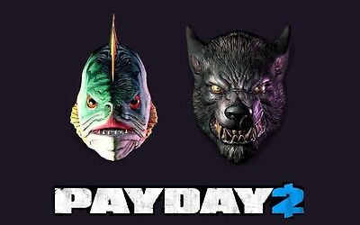 014 Exclusive Lycanwulf and The One below Mask - Steam key (Halloween Payday 2)