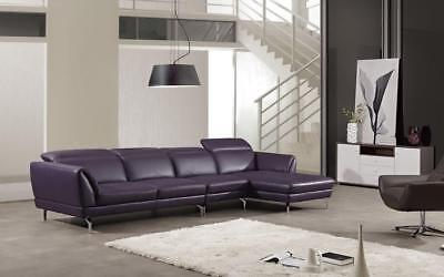 Purple Leather Matchh Sectional Sofa Right Chaise American E