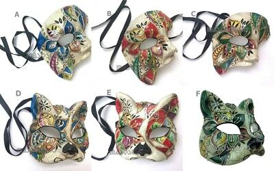 Halloween costume Masquerade Party cat mask Pair Venetian Phantom of Opera Play