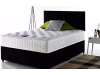 """❤""""Free & Fast Delivery""""❤ New """"Premium"""" Double And King Divan Bed w 9"""" Thick Semi Orthopedic Mattress"""