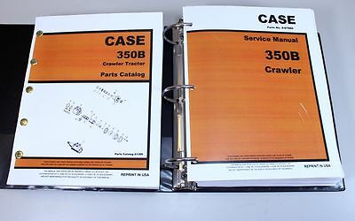 Case 350b Crawler Dozer Loader Service Manual Parts Catalog Repair Shop Book