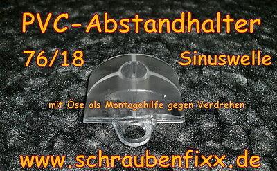 100 st ck 76 18 pvc abstandhalter f r aluwelle pvc dachplatten wellplatten ebay. Black Bedroom Furniture Sets. Home Design Ideas