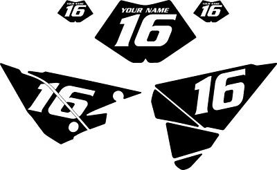 2018 BETA X Trainer 300 Pre-Printed Black Backgrounds with White Numbers