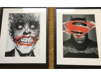 Picture - Framed , Mounted Superhero prints