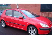 PEUGEOT 307 GLX** 5 DRS HATCHBACK** EXCELLENT CONDITION.