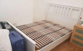 Ikea hemnes white double bed